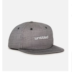 New Untitled check snap back in grey adjustable